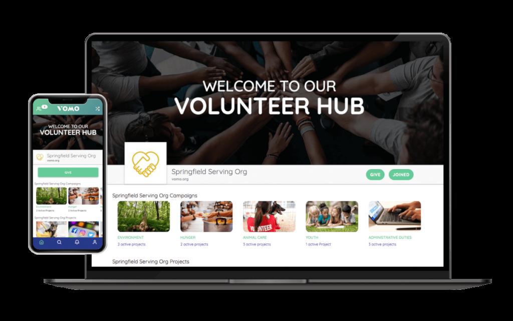 Volunteer management with VOMO Volunteer Hub