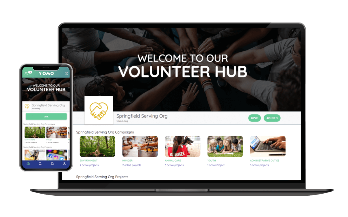 Volunteer management with VOMO Volunteer Hub