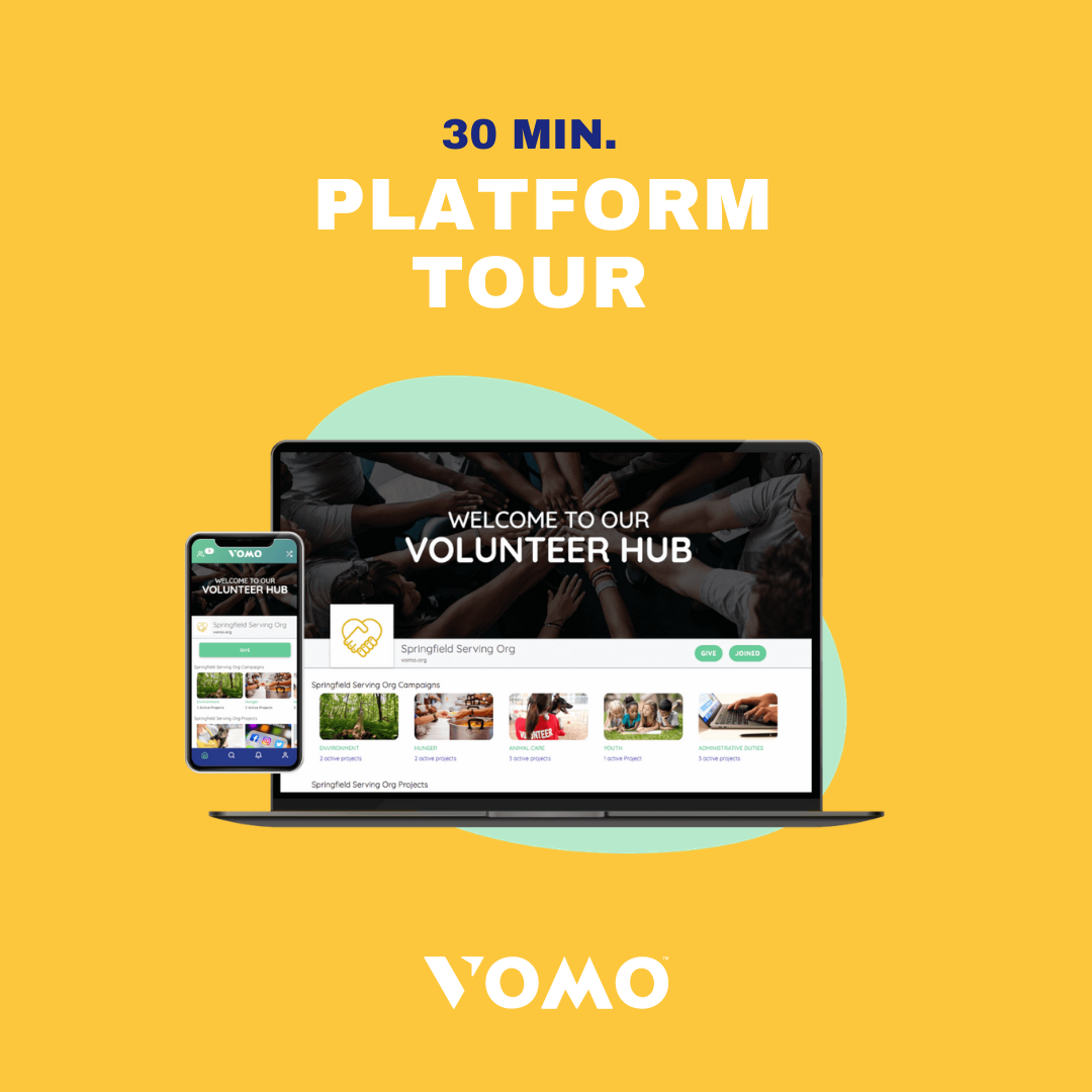 Volunteer platform tour