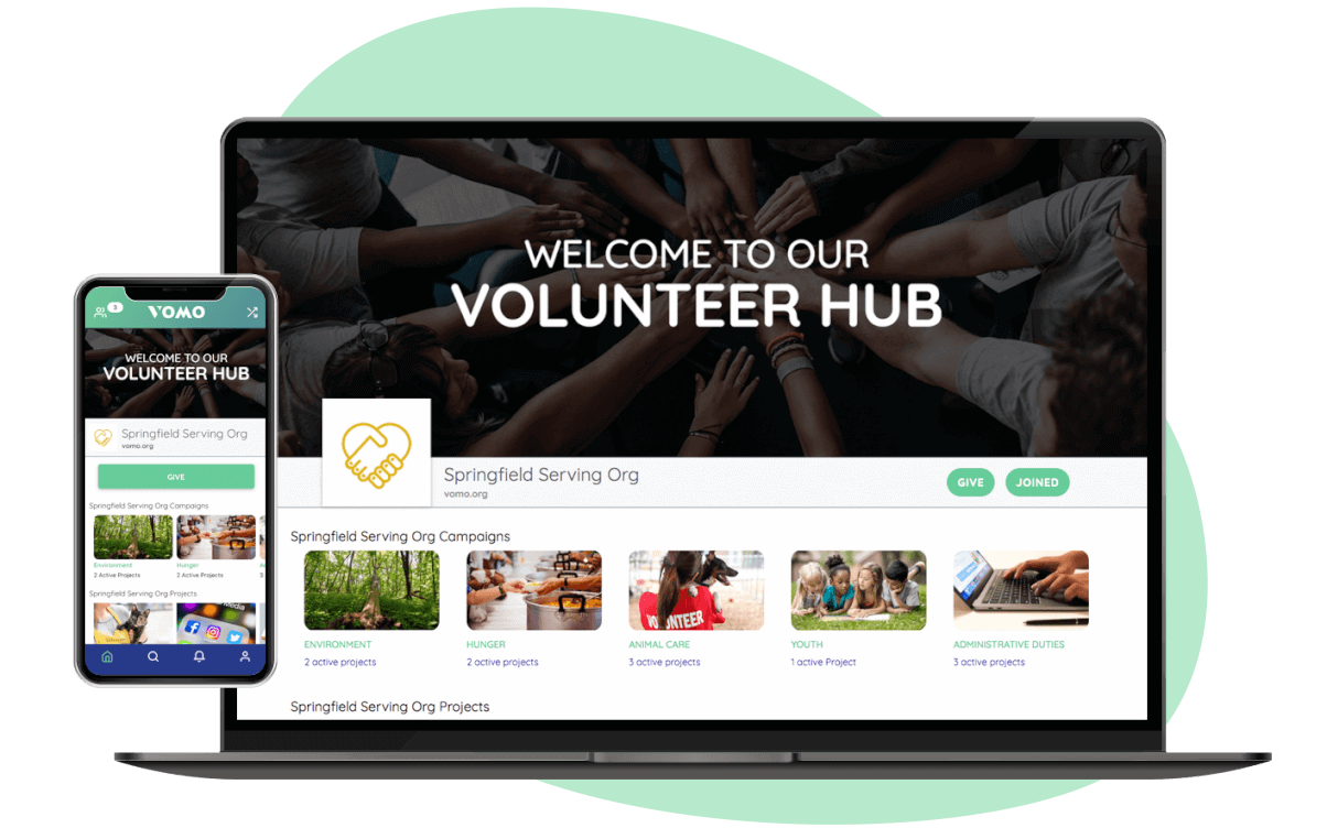 Volunteer management hub