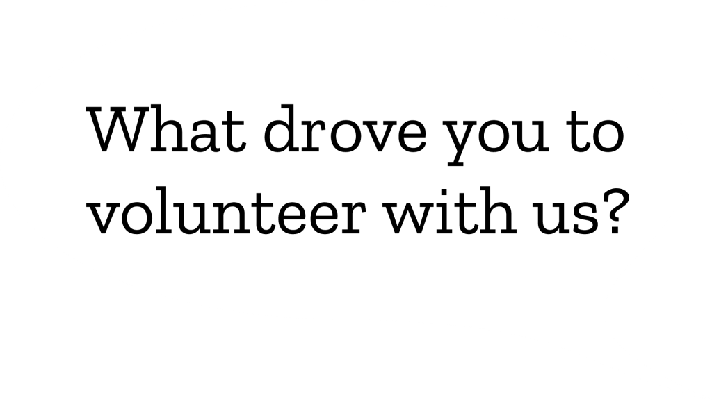 Volunteer Survey questions