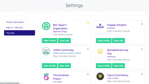 Volunteer Engagement platform features